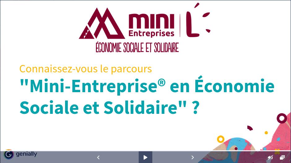 Pour la rentrée 2021-2022 : la Mini-Entreprise® en Économie Sociale et Solidaire